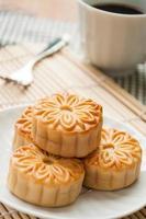 Mooncake, plats traditionnels chinois pendant le festival de la mi-automne