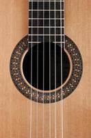 détail de la guitare classique