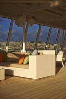 madiera, portugal, europe de l, osier, chaise, après-midi, sièges, croisière, bateau, pont