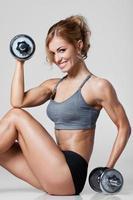 fitness avec haltères photo