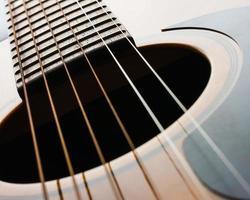 détails de la guitare acoustique