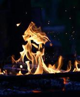 flammes d'intérêt photo