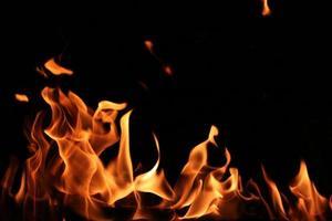 la conception de la flamme chaude. photo