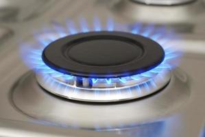 flamme de gaz bleu