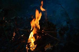 feu dans la nuit photo