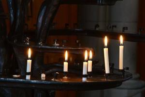 bougies commémoratives photo
