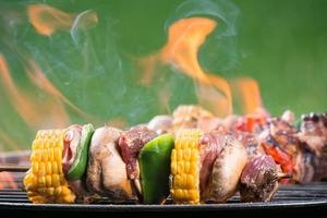 brochette de viande grillée