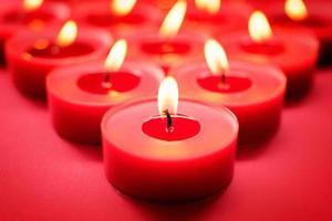 fond de bougies rouges photo