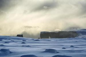 Peninsula Dyrholaey dans le sud de l'Islande dans la lumière du matin
