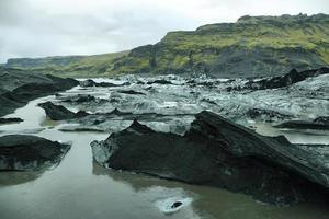 Glacier Solheimajokull en Islande