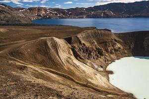 source chaude vitio et lac oskjuvatn - Islande.
