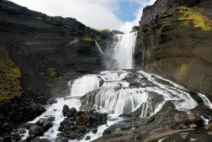 Cascade ofaerufoss dans le canyon d'Eldgja photo