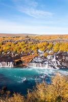 Cascade de Hraunfossar, Islande photo