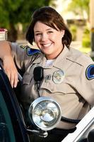 femme policier photo