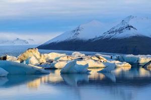 lagune glaciaire dans l'est de l'Islande, nature
