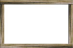 cadre en bois sur fond blanc