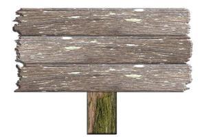panneau en bois sur fond blanc photo