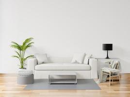 intérieur de salon minimal 3d pastel