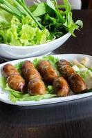 saucisse frite - cuisine vietnamienne
