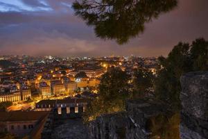 ville de Lisbonne la nuit d'en haut
