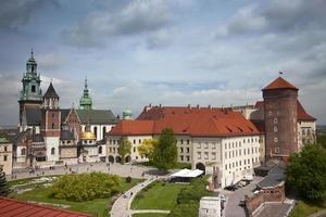 Vue sur le toit de Cracovie Wawel