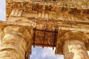 Site archéologique de Ségeste de la Grèce antique perce Sicile ital