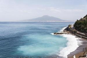 Vue panoramique de Naples tiré de Sorrento