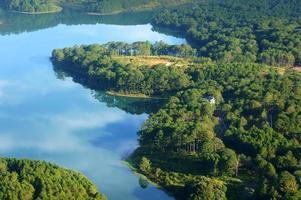 paysage fantastique, lac écologique, voyage au vietnam photo