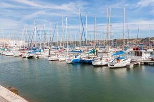 Marina de Lisbonne dans le quartier de Belem