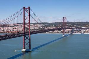 le pont 25 de abril sur la rivière tejo