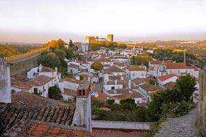 village médiéval romantique d'óbidos