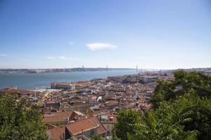 Panorama de la ville historique de Lisbonne, Portugal