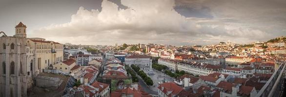Panorama de la ville de Lisbonne d'en haut