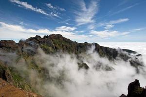 au-dessus des nuages à madère