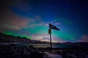 signes d'aurores boréales photo