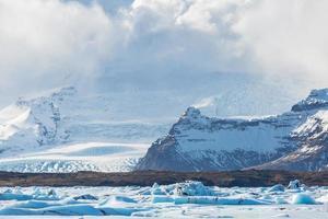 Le glacier du vatnajokull en Islande