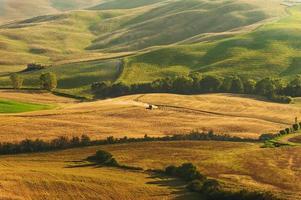 Vue sur la campagne dans le paysage toscane de Pienza, Italie