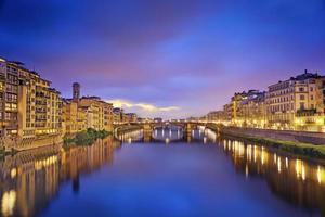 une belle vue sur Florence le soir