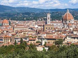 vue panoramique sur la ville de florence