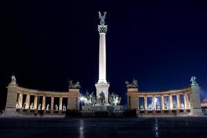 place des héros budapest photo