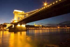Pont des Chaînes à Budapest Hongrie