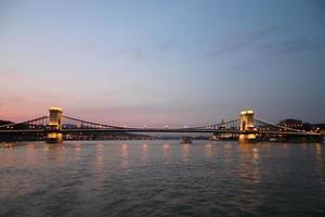 Pont des chaînes de Budapest par nuit