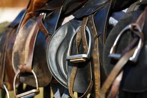cheval de selle en cuir photo