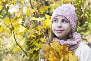 portrait en automne parc photo