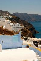 architecture sur l'île de Santorin, Grèce photo