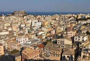 Vieille ville de l'île de Corfou en Grèce