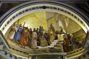 Le procès de Jésus à Achilleon, à Corfou, Grèce