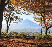 image de la montagne sacrée de fuji en arrière-plan photo