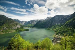 paysage du lac de hallstatt et de la ville