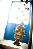 porte-encens catholique en laiton photo